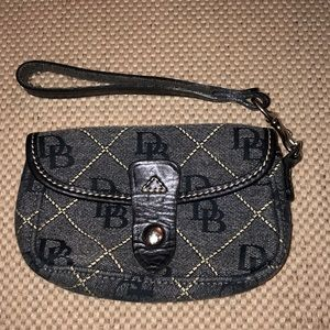 Dooney and Bourke Denim Wristlet
